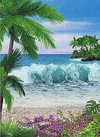 Фотообои из бумаги для стен 134*194 см , 8 листов, Моря, реки, озера, океаны, Аромат Океана