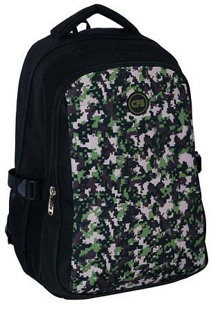"""Молодежный рюкзак 17"""" для школы и города """"Uni Khaki"""" Cool for school CF85679 черный/хаки"""