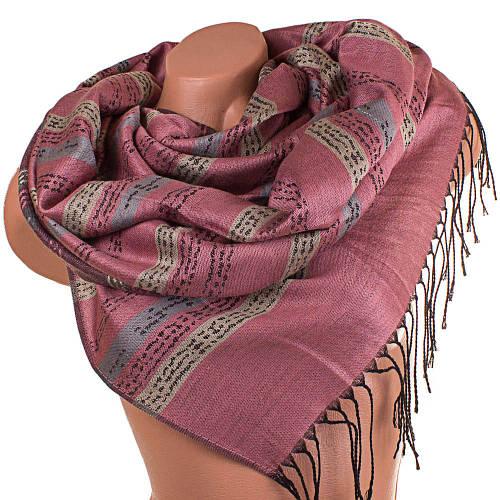 Романтичный женский двусторонний шерстяной палантин 175 на 68 см  ETERNO (ЭТЕРНО) ES0406-8-13 розовый