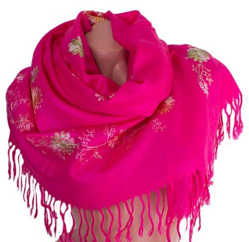 Оригинальный женский шерстяной шарф 170 на 69 см ETERNO (ЭТЕРНО) ES0206-7-pink розовый