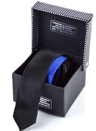 Красивый мужской узкий шелковый галстук ETERNO (ЭТЕРНО) ETEG681 разноцветный