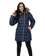 Теплая  красивая  женская зимняя  куртка  на молнии