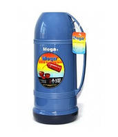 Вакуумный термос Mega ЕТ190 1.9 л синий/бирюзовый