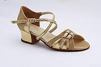 Обувь танцевальная для девочек золото парча