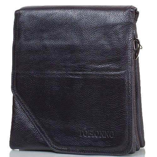 Стильная мужская сумка из натуральной кожи TOFIONNO (ТОФИОННО) TU6010-3-black черный