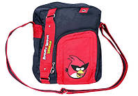 """Школьная сумка через плечо для парня """"Angry Birds"""" Cool for school AB03862 черный/красный"""