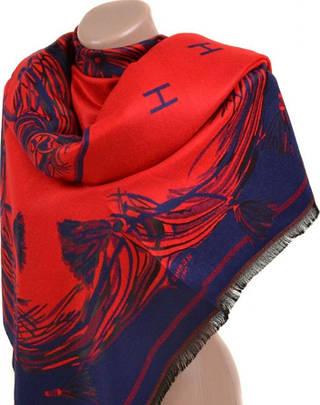Очаровательный женский кашемировый палантин размером 70*180 см Подиум 31990-3-3 (красный с синим)
