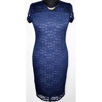 Женское красивое вечернее гипюровое платье больших размеров р.50,52,54,56,58