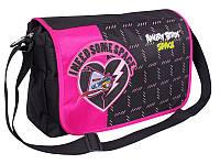 """Супермодная сумка для школы девушкам """"Angry Birds"""" Cool for school AB03853 черный/розовый"""