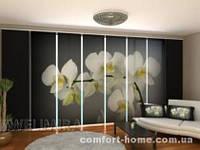 Панельная штора Песня Орхидеи 8 комплект 8 шт