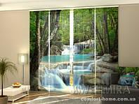 Панельная штора Тайский водопад весной комплект 4 шт