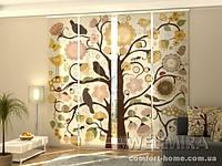 Панельная штора Дерево и цветы комплект 4 шт