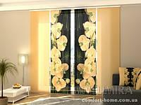 Панельная штора Песочные орхидеи комплект 4 шт