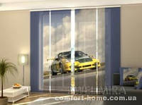 Панельная штора желтый суперкар комплект 4 шт