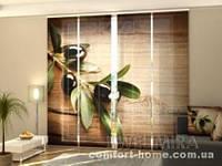 Панельная штора Черная оливка комплект 4 шт