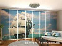 Панельная штора Красивая Шхуна комплект 8 шт