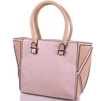 Женская бежевая сумка из кожезаменителя ANNA&LI (АННА И ЛИ) TUP14125-12