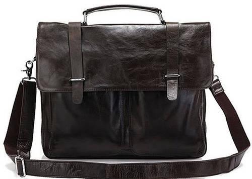 Замечательный мужской кожаный портфель S.J.D. 6057J темно-серый