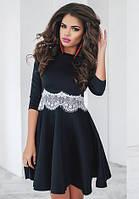 Платье женское с кружевом, фото 1