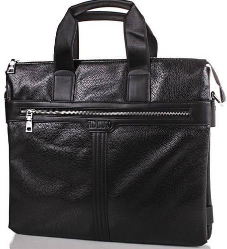 Мужская сумка из качественной искусственной кожи  BONIS (БОНИС), коллекция JIN DIAO SHI89361 Черный