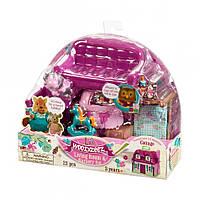 """Детский игровой набор Woodzeez Гостинная и детская комната """" мебель  для семьи зверят"""