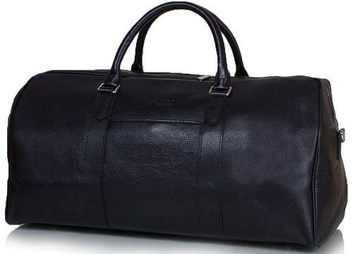Надежная мужская дорожная сумка из натуральной кожи PORTIER GOLDE HORSE (ПОРТЬЕ ГОЛДИ ХОРС) ET8109-1 черный