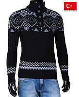 Теплый джемпер с воротником.Вязанный свитер.Теплая кофта на зиму.
