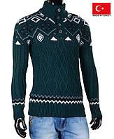 Детский свитер с орнаментом на зиму.