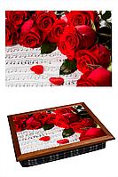 Поднос на подушке Мелодия роз