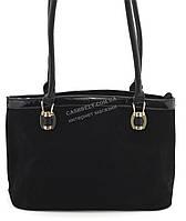 Аккуратная женская сумочка с замши SOFIYA art. SF-164-F черная