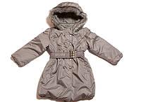 Курточка-пальто теплая для девочек 98-158 (в расцветках)