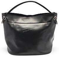 Стильная кожаная черная женская сумка SOLANA art. 99821