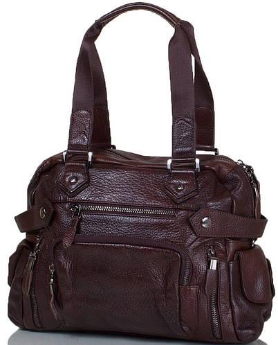 Многофункциональная мужская сумка из натуральной кожи ETERNO (ЭТЭРНО) ET8076-10 коричневый