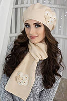 Зимний женский комплект «Камилла» (берет и шарф)