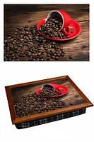 Поднос на подушке Красная чашка кофе