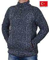 Свитер мужской большого размера,вязанный теплый мужской свитер.Качество.Турция.Большие размеры.
