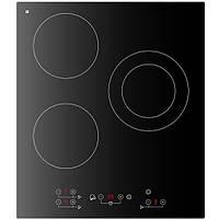 Встраиваемая варочная плита на три конфорки LONGRAN FH4550-BL черного цвета