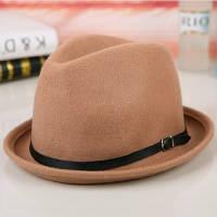 Модная женская шляпа из натуральной шерсти бежевого цвета