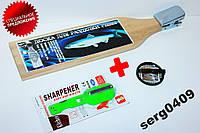 Доска для разделки рыбы+ нож с контейнером и терка