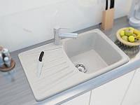 Из мрамора врезная мойка для кухни прямоугольной формы от производителя MOKO NAPOLI цвет - vanilla