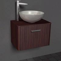 Комплект ванной мебели навесная тумба с раковиной из литого камня Fiji 60 Mona