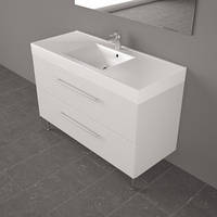 В Ванную шкафчик с раковиной из искусственного камня Nadja 1200С, Буль-буль
