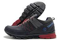 Кроссовки подростковые Timberland темно-синие с красным (тимберленд)