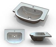 Умывальник в ванную комнату Буль-Буль Alva 600, белый из литого мрамора