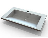 Белая раковина в ванную комнату Буль-Буль Peggy 850C из литого мрамора