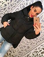 """Женская стильная демисезонная/зимняя куртка удлиненная сзади """"Джен"""" (2 цвета)"""