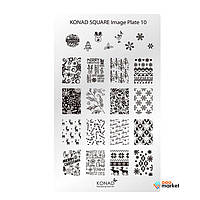 Стемпинг Konad Квадратная пластина Konad SQ10 Square Image Plate