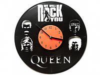 Виниловые часы We will rock you