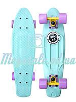 "Скейтборд/скейт пенни борд (Penny Board) пенни Pastels Siries ""Пастельные оттенки"": Mint, Fishskateboards"