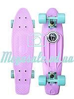 "Скейтборд/скейт пенни борд (Penny Board) пенни Pastels Siries ""Пастельные оттенки"": Lilac, Fishskateboards"